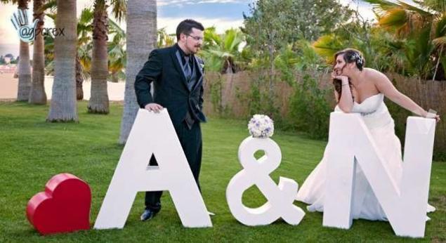 iniciales-para-bodas Iniciales y letras para bodas muy originales